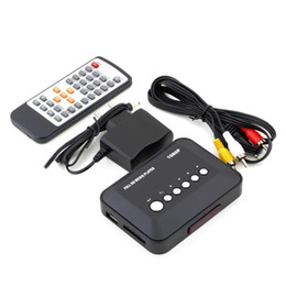 El jugador del sd para la televisión en Línea-Venta al por mayor - 1Pcs Freeshipping 1080P HD SD / MMC TV Vídeos SD MMC RMVB MP3 Multi TV USB HDMI Media Player Box