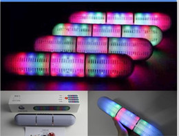 Wholesale New Pulse Pills Led Flash Lighting JHW V318 Portable Wireless Bluetooth Speaker Bulit in Mic Handsfree speakers Support FM USB Free DHL Hot