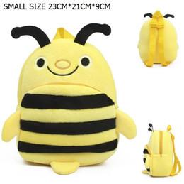 Promotion enfants de bande dessinée étudiants sacs Vente en gros- La ruche Little Bee Kids Schoolbags Cartoon Cute Plush Backpacks