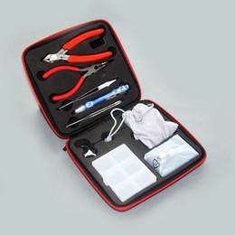 Mejor rba en venta-Best Bobina Kit de herramientas El kit más completo diy herramienta bobina bobinadora cerámica pinza Conceptos atomizador bobina RDA RBA RTA por DHL libre