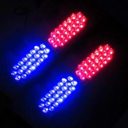 Descuento nave de luz estroboscópica de advertencia Luz de destello del flash del estroboscópico de 4x22 LED La luz de destello del coche de policía del ccsme que destella los bomberos de la emergencia 4 *