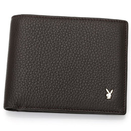 Wholesale New Luxury brands Mens Wallets Small Bifold Credit Card PU Leather Travel Purse High quality Playboy Wallet for Men Fashion A086