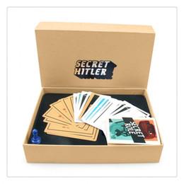 Wholesale SECRET HITLER Games previously elected NEW president chancellor Card Kickstarter Edition Board Game Party cards