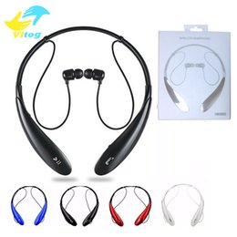 HBS 800 Bluetooth Headset Headphone Earphone hbs 800 Stereo Wireless Neckbands for iphone 6 6s 6Plus 7 plus without logo With Retail Box