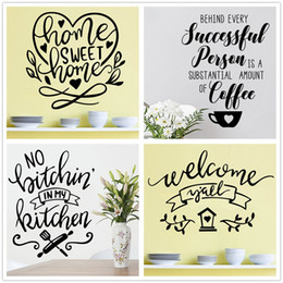 Mix Order Home Sweet Home Wall sticker Inspirational Wall Decal Vinyl Removable Heart Shape Stickers Vinyl Wall Words Decal Home Decor