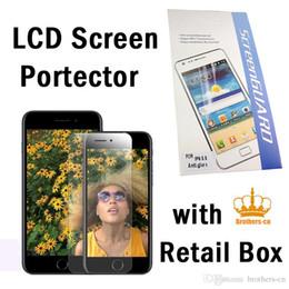 Promotion écrans lcd samsung Avec la boîte de détail Transparent Clear LCD Screen Protector Film de protection avec un chiffon pour iphone 7 iphone 7 plus samsung