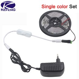 Adaptateur secteur pour la télévision en Ligne-Led tv moniteur d'ordinateur RGB LED Strip 5M 300Led 3528 SMD 24 Clé IR Remote Controller 12V 2A Power Adapter Flexible Light