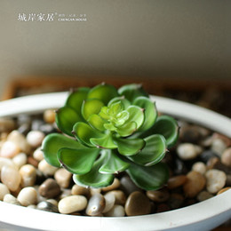 Wholesale Artificial succulents Land Lotus Plants Grass Desert Artificial Plant Landscape Fake Flower Arrangement Garden Decor Home Office
