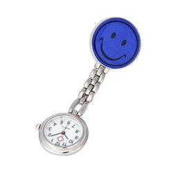 Wholesale Attractive Fashion Nurse Clip on Fob Brooch Pendant Hanging Smile Face Watch Pocket Watch OT9