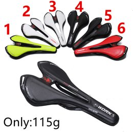 Wholesale 2017 All Carbon Fiber Mountain Bike Road Bike Bicycle Hollow Light Cushion Saddle Bicycle Cushion Bicycle Parts