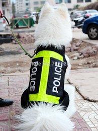 Большие костюмы для собак Онлайн-Полиция Стиль Большой Pet Одежда для собак Big Dog Summer Mesh Vest Светоотражающие пальто костюм куртка L XL XXL