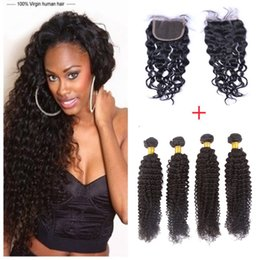 8A Grade Brazilian Natural Wave Hair Weaves 4 Bundles 200g With Lace Closure Dyeable Brazilian Human Hair Unprocessed Virgin Hair