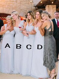 2018 Cheap Chiffon Bridesmaid Dresses A Line Country Style Long Maid of Honor Gowns Boho Formal Wedding Guest Dresses Custom BA4143