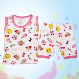 Wholesale piece Summer baby dress underwear set cotton underwear men and women baby sweat vest Underwear Set free shopping no1