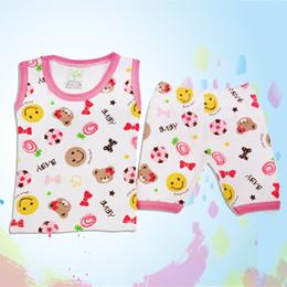 Wholesale piece Summer baby dress underwear set cotton underwear men and women baby sweat vest Underwear Set free shopping no1