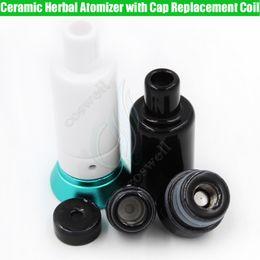 Full Ceramic Herbal Atomizer Replacement Coils Cap The Kiln RA Wax Donut Wickless Dry herb Vaporizer Tank Hookah Cannon Vape Pen Vapor ecigs