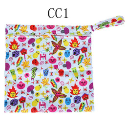 Bébé tissu réutilisable couche nappy à vendre-LS4G bébé portable Nappy réutilisable lavable humide tissu sec Zipper étanche sac à couches sac de stockage CC