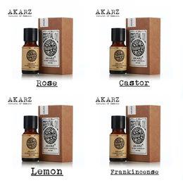 Wholesale Famous brand AKARZ Pure Rose Castor lemon Frankincense Essential Oils Pack For Aromatherapy Massage Spa Bath