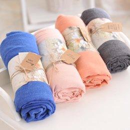 Foulards en coton de marque de gros en Ligne-2016 Nouvelle écharpe à manches longues à manches longues en coton Echarpe souple Echarpes décontractées pour femmes Vente en gros