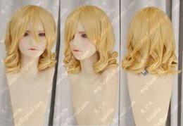 High Quality Fashion Picture full lace wigs >NEW Ladies fashion Curly Blonde Natural Hair Women's Wigs