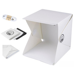 Factory outlet! Foldable Mini Lightbox Portable Light Room Photo Studio Photography Backdrop Mini Cube Box Lighting Tent Kit