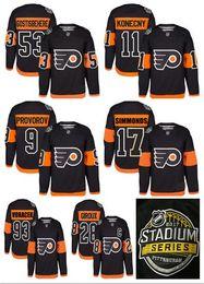 Promotion série de hockey 2017 Stadium Series Premier Hockey Jersey Philadelphia Flyers # 53 Shayne Gostisbehere # 11 Travis Konecny # 9 Ivan Provorov # 28 Claude Giroux