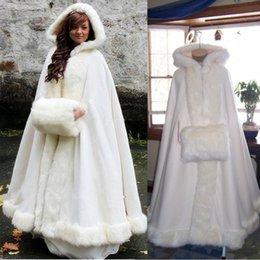 Elegant Ankle length Winter Wedding Bridal Cloaks Cheap Warm Wedding Wraps   Jacket Women Winter Coat Custom Made