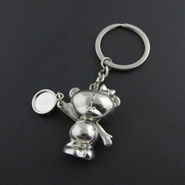 top hot selling Funny silver metal 3D teddy bear keychain with romoving arms and legs DHL free shipping