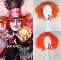 Wholesale Adult Alice Electric Mad Hatter Halloween Wig Use Heat Resistat Synthetic Hair Evil Mad Hatter Costume