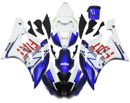 Compra Online Venta caliente de la motocicleta-Nuevos carenados para Yamaha YZF-R6 YZF600 R6 06 07 2006 2007 ABS Carenado de plástico Carenado de motocicleta Carcasa Cowling azul rojo FIAT venta caliente