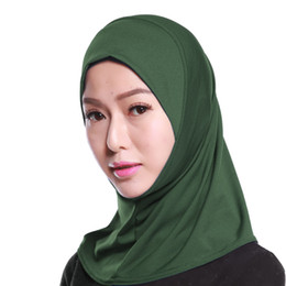 High Quality Muslim Women Mini Hijabs One Piece Khimar Amira Slip Scarf Abaya Islamic Women Headwear