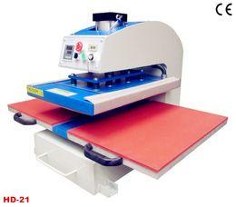 Wholesale D21 m Heat Transfer Machine Stations Pneumatic Flat Press Print Fabric Non woven Textile Cotton Nylon Terylene Glass Metal Flag Wood
