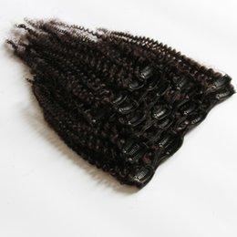 Descuento extensión del pelo humano clip de la cabeza llena Virgen peruana Malasia onda 3pcs cuerpo / lot brasileño, pelo humano del 100% sin procesar teje extensión de la trama del pelo ondulado lía # 1B