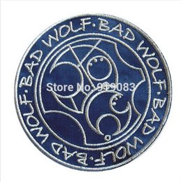 Wholesale 4 quot Inspired Doctor Who Bad Wolf patch Iron On Badge TV Movie Series cosplay Embroideried Halloween Costume