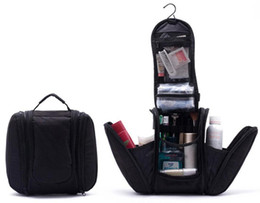Free shipping 2015 Black New Orgarnizer Shaving men's travel bags Deluxe Large Hanging Hook Travel Toiletry Kit bag