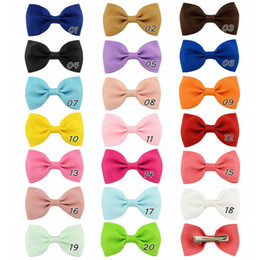 2.8 inch Baby Bow Hairpins Grosgrain Ribbon Boutique Bows Hairgrips With Alligator Clips Girls Hair Clips Hair Accessories Barrette BK230