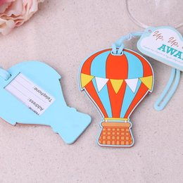 New Arrival Factory Directly Sale Wedding Favor Hot Air Balloon Luggage Tag Boarding Pass Billboard