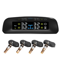 Wholesale Solar Power Wireless LCD Display TPMS with Internal Sensor New Car Tire Pressure Monitoring Intelligent system