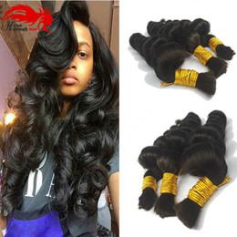 Hannah product Buy 3bundles 150gram Brazilian Hair Bulk For Braiding Human No Weft Brazilian Hair Micro mini Braiding Bulk Hair