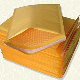 Descuento burbuja de papel kraft Paquetes de papel universales Pequeños Kraft Buffer Envoltorio Envuelto Sobres Envases Mailers auto sellado Paquete de envío Paquete caja 50pcs