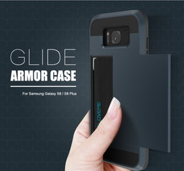 2 in 1 Armor Case For Samsung Galaxy S8 S8 Plus Glide Back Cover Inner Card Slot For Samsung Galaxy S8 Phone Cover Coque