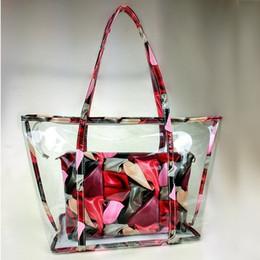 La moda bolsas de plástico transparentes en Línea-2017 nuevo bolso plástico de la playa de la impresión del bolso del bolso de la manera del bolso Bolso transparente de la jalea del paquete de la novedad de la manera