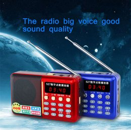 Multifunctional Mini Portable Digital FM Radio Speaker USB TF Card Mp3 Music Player with LED Light and Rechargeable Battery