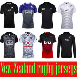 Wholesale New Zealand All Blacks Rugby Jersey Shirt Season All Blacks Mens Rugby Football Jersey S XXXL best quality