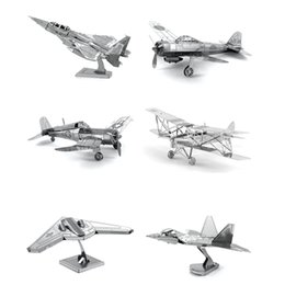 Wholesale Hot Sale D DIY Metal Puzzle Toy Aircraft Model For Child Adult Air Force Equipment Weapons Model Best Christmas Gift Kids Toys