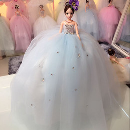 The large size Diamond Princess Doll 52cm Valentine's Day doll for lover Single shoulder multi-layer gauze Wedding Doll
