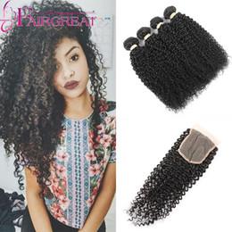 Promotion 18 black hair Livraison gratuite Cheveux frisés péruviens avec fermeture naturelle Noir 100% Cheveux humains en tissus Top cheveux perruques profondes avec fermeture