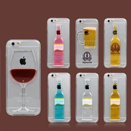 Exclusive 3D Red Wine Cup Liquid Transparent Hard Case Cover For Smart Phone,Mobile phone,Android phone Cases Flowing Wine Back Covers