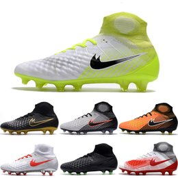 Drop Shipping Wholesale Football Shoes Men Magista Obra II FG ACC Soccer Boots High Cut Outdoor High Quality Sports Shoes Size 6.5-11