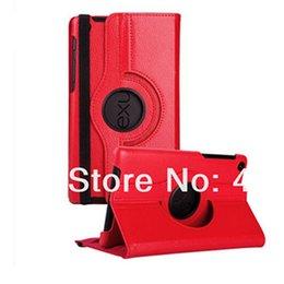 Wholesale-Fashion 360 degrés tournant PU cuir Smart Stand Cover Case pour Google Nexus 7 ii 2013 Case + film d'écran + stylus stylo nexus rotating leather case promotion à partir de nexus rotation étui en cuir fournisseurs